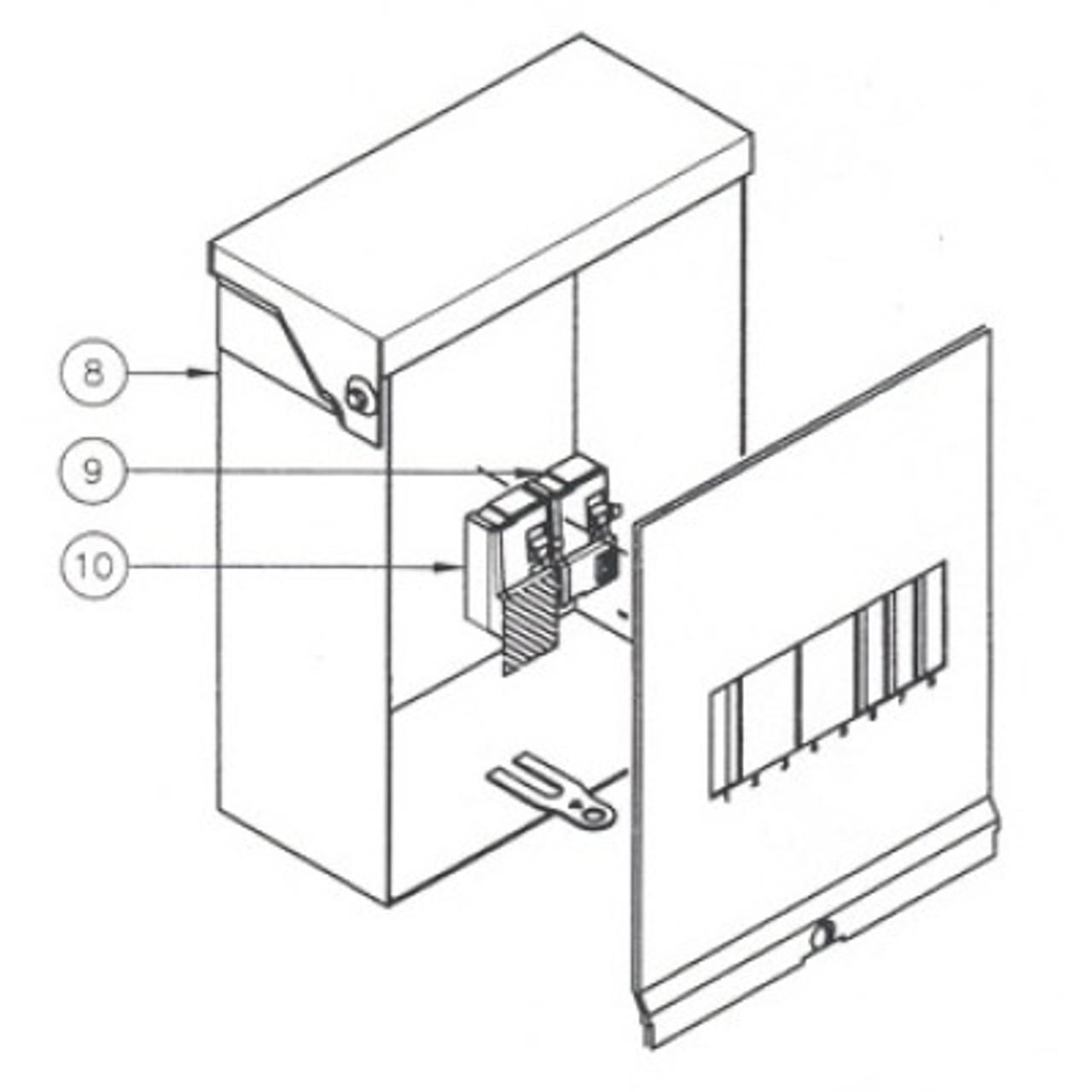 Caldera Spas 5 Wire GFCI (1) 30Amp & (1) 20Amp Breaker - 301757 - Spa Parts  DepotSpa Parts Depot