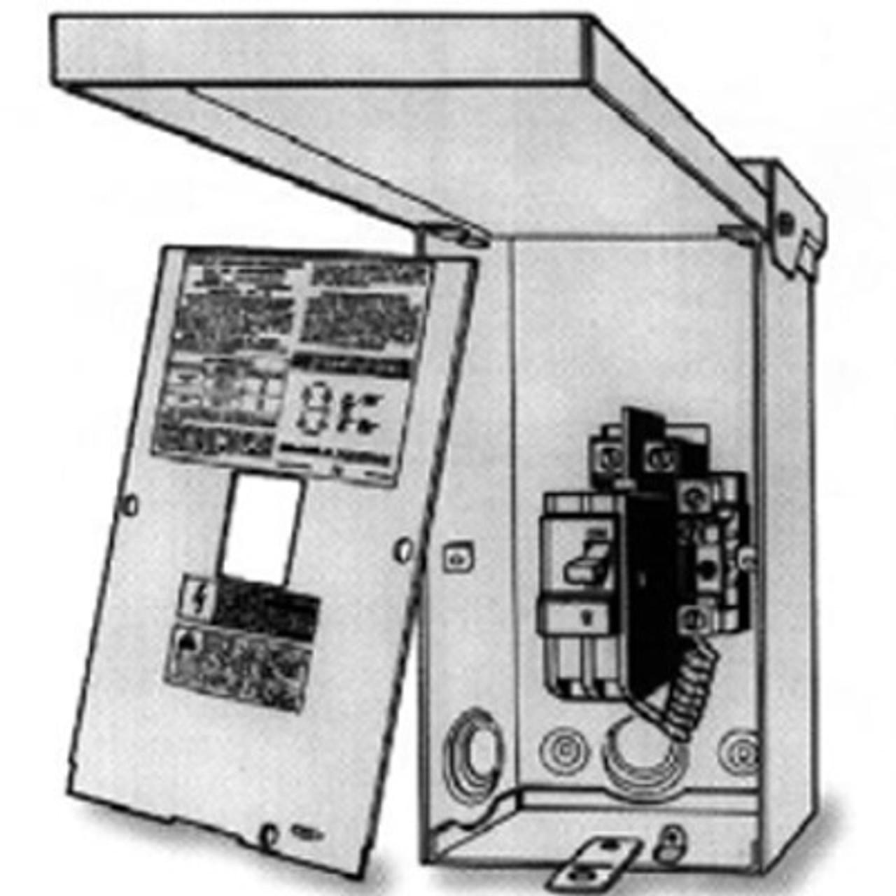 Master Spas Gfci Box W Breaker 50 Amp 4 Wire Disconnect Sub Panel X619550