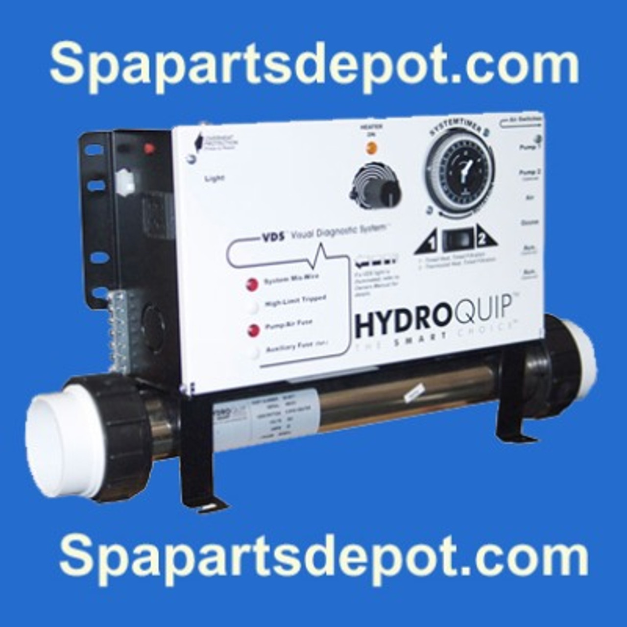 hydro quip cs6000-u1 spa control universal 120/240v with heater 3-70-0905 -  spa parts depot