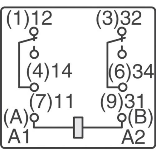 Schrack Relay Dpdt110v Coil15a 240v Part Rm205615