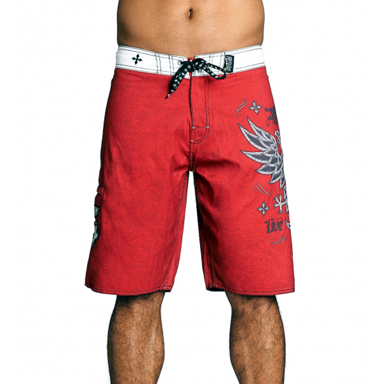 777bf2e958 Affliction Men's Royale Rust Board Shorts Red 101BS101 - HAS Style