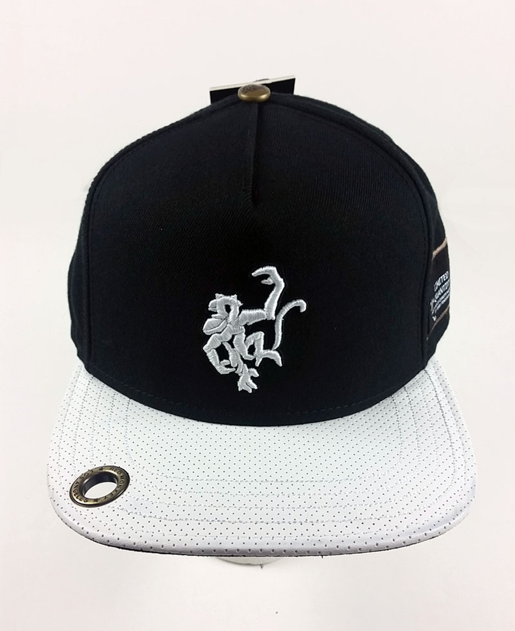 Red Monkey Wholly Logo Snap Back Cap Hat Flat White RM1059 B - HAS Style 99828a6ba7c