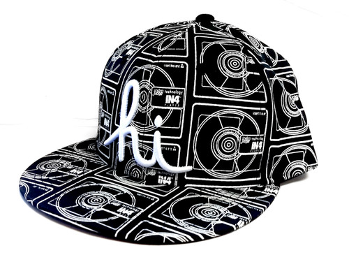 In4mation Lost Format Snapback Hat Flat Brim Cap Black IN4M-623