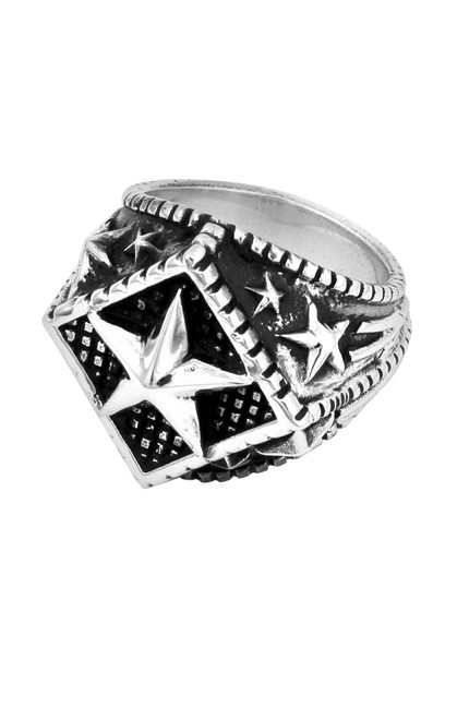 King Baby Diamond Star Ring Sterling Silver K20-5125