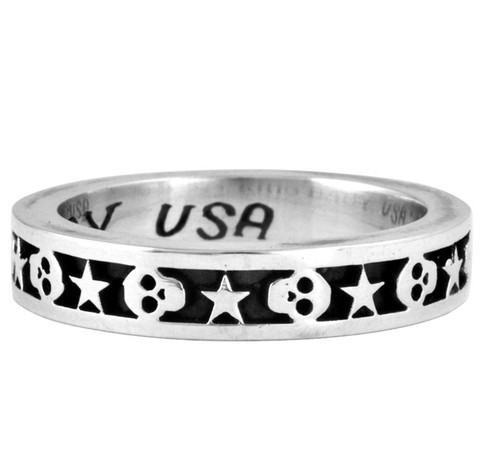 King Baby Studio Stackable Skull and Star Ring K20-5160