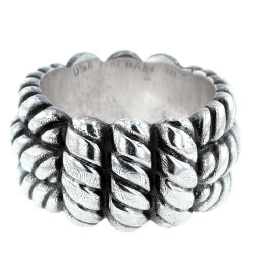 King Baby Silver Monkey Knot Wide Band Rring K20-6031