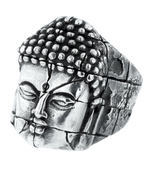 King Baby Silver Temple Ruin Buddha Ring  K20-6022