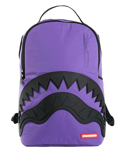 Sprayground Laptop Backpack 3M Purple Black Rubber Shark