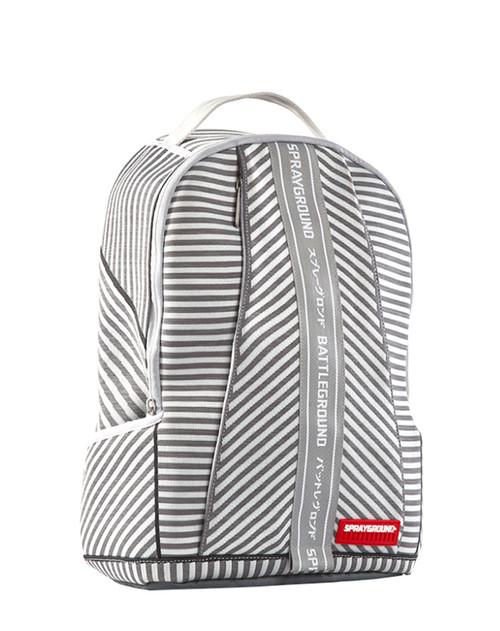 Sprayground Backpack Japan White Grey Stripe DLX