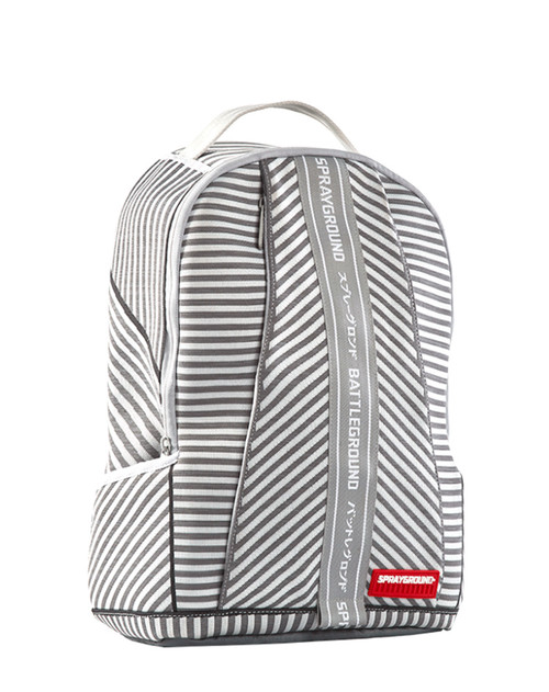 Sprayground Backpack Japan White Grey Stripe DLX