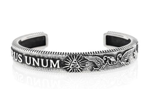 King Baby Studio Sterling Silver E Pluribus Unum Cuff K40-5905