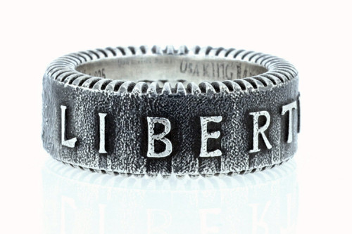 King Baby Studio Liberty Coin Edge Wide Band Ring K20-5984