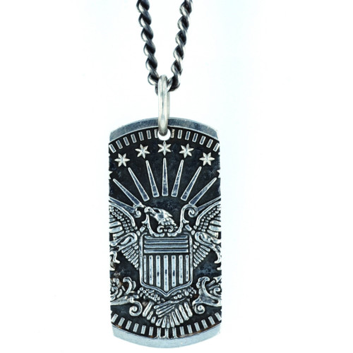 King Baby Studio American Voices Eagle Dog Tag Pendant K10-9157