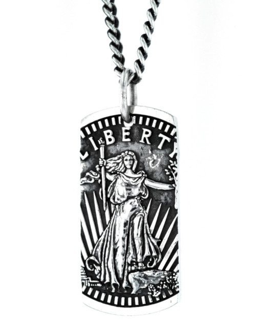 King Baby Studio American Voices Liberty Dog Tag Pendant K10-9158
