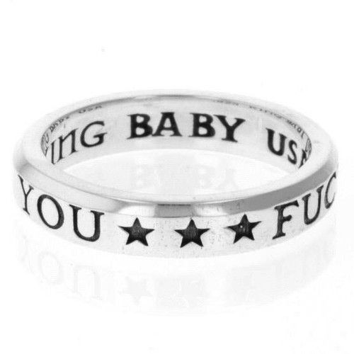 King Baby Studio F*CK YOU Stackable Ring Sterling Silver K20-5721