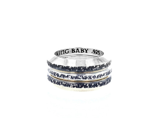 King Baby Studio Chamfered Stacked 3 Rings Set Silver K20-6514