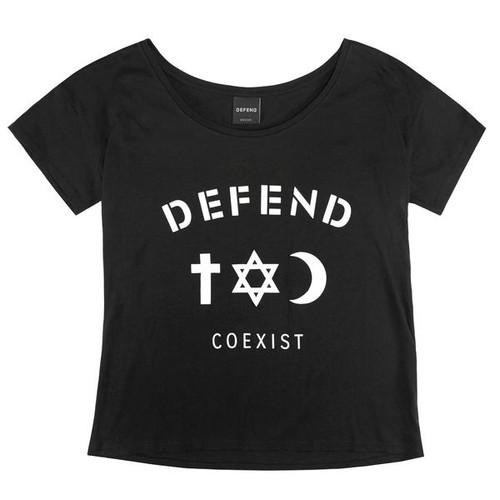 Defend Paris Women's Coexist Daily T-shirt Black WSS1514