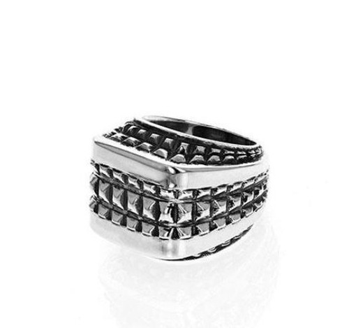 King Baby Studio Squared-Off Texture Ring Sterling Silver K20-6513