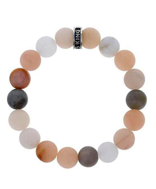 King Baby Studio 10mm Assorted Moonstone Beaded Bracelet K40-5804MAS