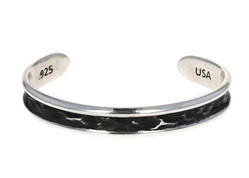 King Baby Studio Thin Hammered Cuff Sterling Silver K40-6509