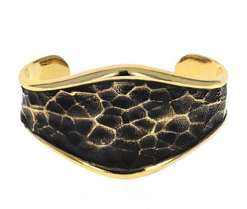 King Baby Studio Thin Hammered Cuff Gold Alloy K40-6501GAL