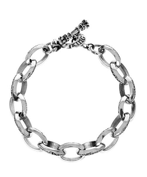 King Baby Studio Beveled Link Bracelet w/ T-Bar & Toggle K42-6003