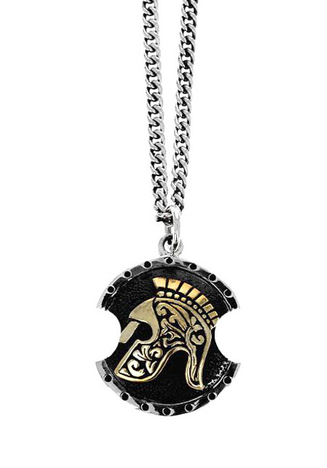 King Baby Studio Spartan Shield Pendant Necklace K10-9203
