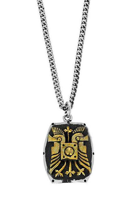 King Baby Studio  Double Helmet Shield Pendant Necklace K10-9202