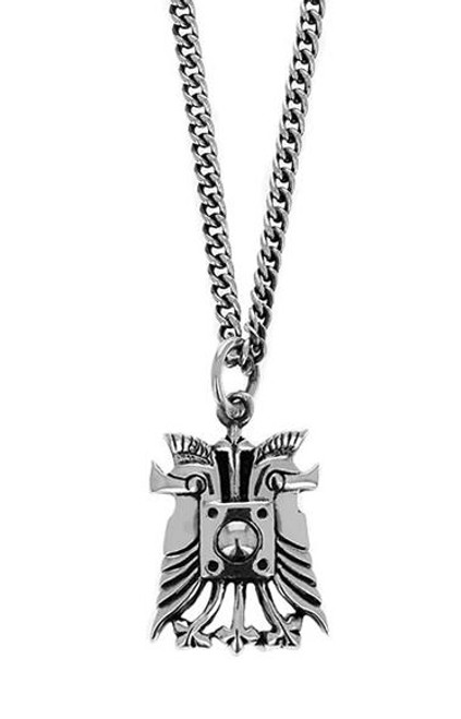 King Baby Studio Double Helmet Silver Pendant Necklace K10-6509