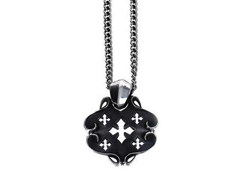King Baby Studio MB Cross Shield Pendant Necklace K10-6506