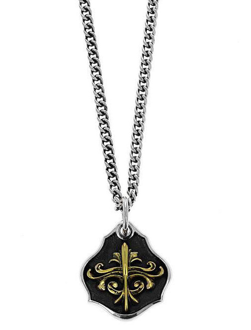 King Baby Studio KB Scroll Shield Pendant Necklace K10-6502