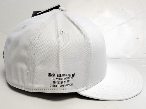 Red Monkey It's Your World White Flex Fit Cap Hat RM1191