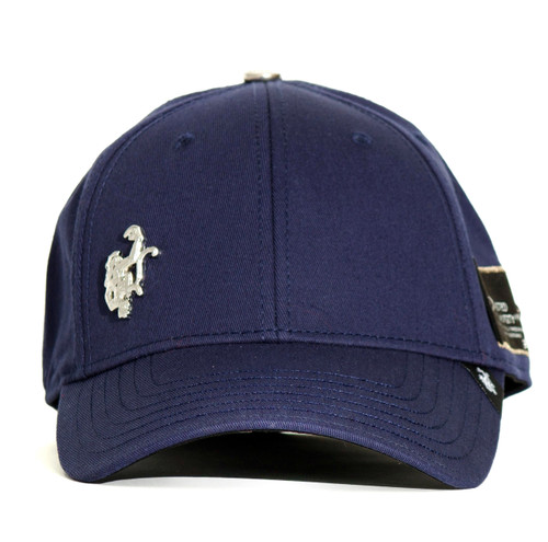 Red Monkey Flex Monkey Blue Silver Flex-Fit Navy Cap Hat RM1198N
