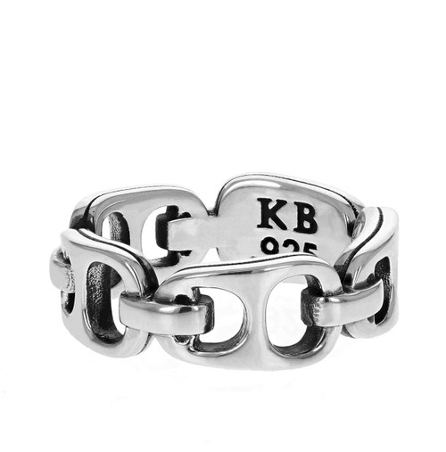 King Baby Large Pop Top Infinity Band Ring Sterling Silver K20-4007