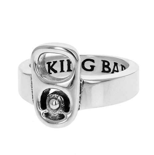 King Baby Studio Large Pop Top Ring Sterling Silver K20-4008
