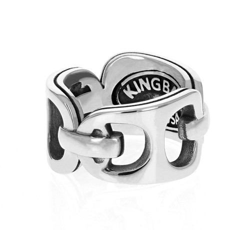 King Baby Studio Pop Top Band Ring Sterling Silver K20-4002