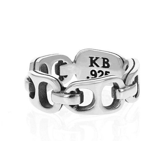 King Baby Studio Small Pop Top Infinity Band Silver K20-4004