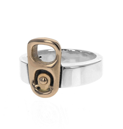 King Baby Studio Pop Top Ring 18k Gold Silver K20-4000G