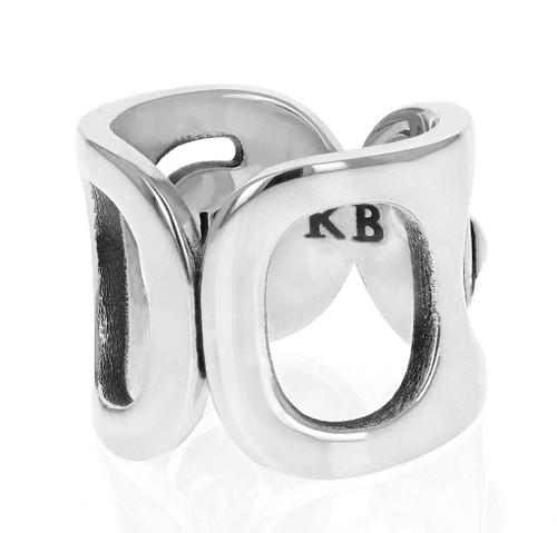 King Baby Studio Large Pop Top Infinity Ring Silver K20-4003