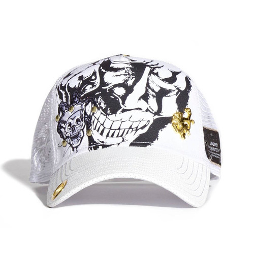 c02246096ed Red Monkey Evil Smile Jester Skull Embroidered Snapback Cap Hat RM1226 ...