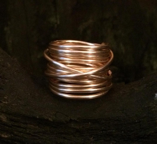 Kami Lerner Jewelry Wire Wrap Gold Filled Simplicty Overlap Ring