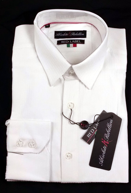 Absolute Rebellion Madrid Button Down Cotton Shirt White