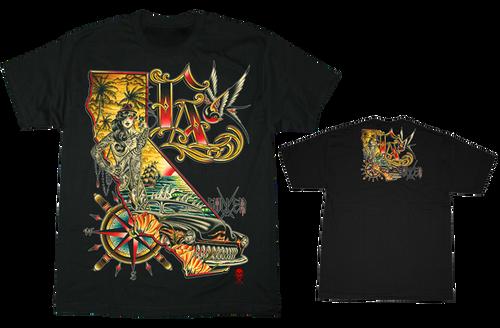 Sullen Art Collective Men's Kali L.A. Tattoo Graphic T-shirt Black