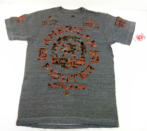 American Fighter Maryland Camo Tri-blend T-shirt Heather Grey FM2092