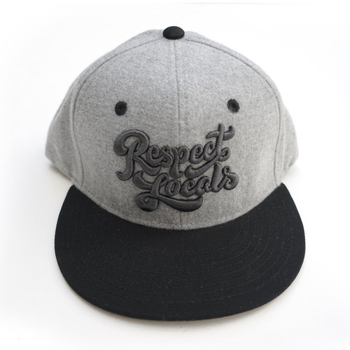 In4mation Respect Locals Script Snapback Hat Cap Grey IN4M-467-OS