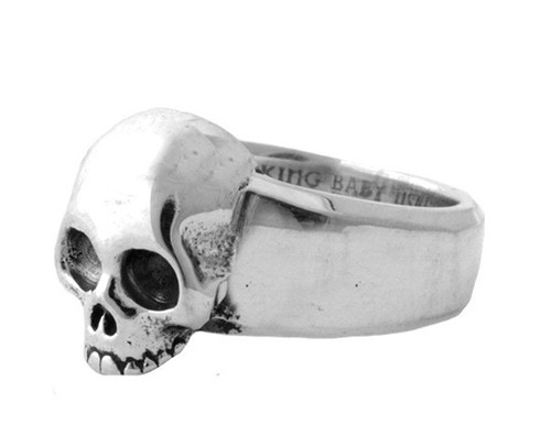King Baby Large Hamlet Skull Ring Sterling Silver K20-5936