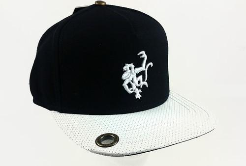 Red Monkey Wholly Logo Snap Back Cap Hat Flat White RM1059/B