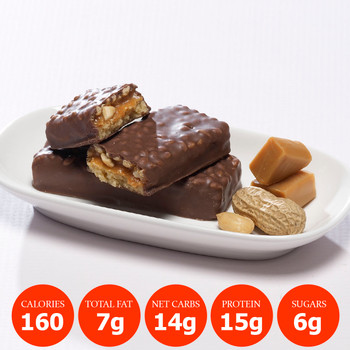 Bariatrix Nutrition Nutty Caramel Crunch Meal Replacement Proti Bar