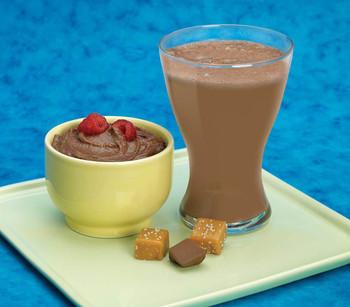 Chocolate Salted Caramel Shake & Pudding