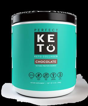 Perfect Keto Chocolate Collagen Protein Keto Diet Friendly Shake